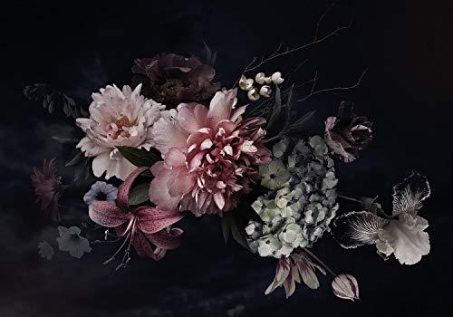 wandmotiv24 Fototapete Blumen Rosa Nebel XL 350 x 245 cm - 7 Teile Fototapeten, Wandbild, Motivtapeten, Vlies-Tapeten Pflanzen Blüten M5870