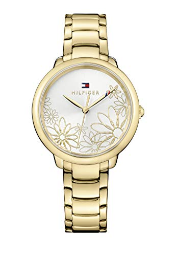 Tommy Hilfiger Women's Quartz Watch with Gold-Tone-Stainless-Steel Strap, (Model: 1781781)