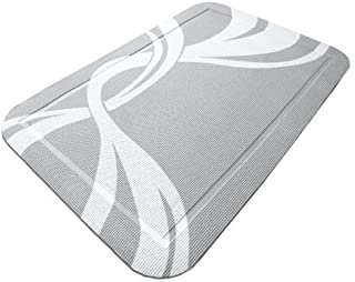 """PetFusion SmartGrip Extra Large Cat Litter Mat, Gray, (35 x 24""""). [Easy Cleaning, Stylish Pattern, Soft on Paws for Finick..."""