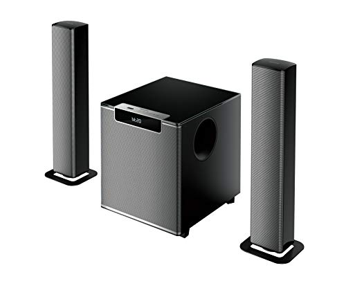 Philips Audio MMS2220B 2.1 Speaker 5.1 Channel 120W Bluetooth Convertible Multimedia Soundbar/Speaker (Black)