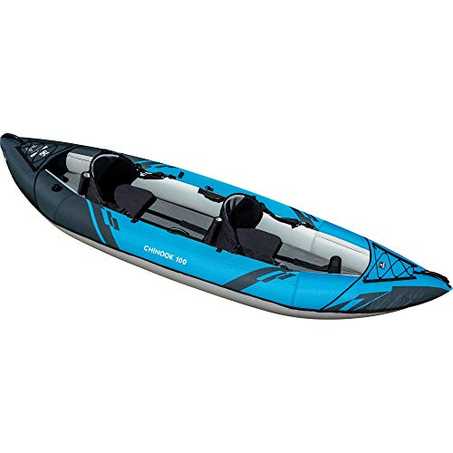 AQUAGLIDE Chinook 100 Inflatable Kayak, 1-2 Person, Multicolor, Medium