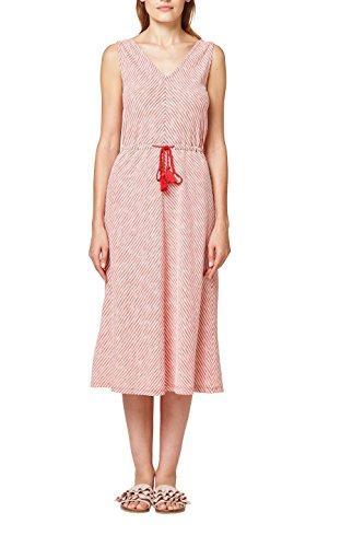 edc by ESPRIT Damen 068CC1E026 Kleid, Mehrfarbig (Red Orange 825), Medium