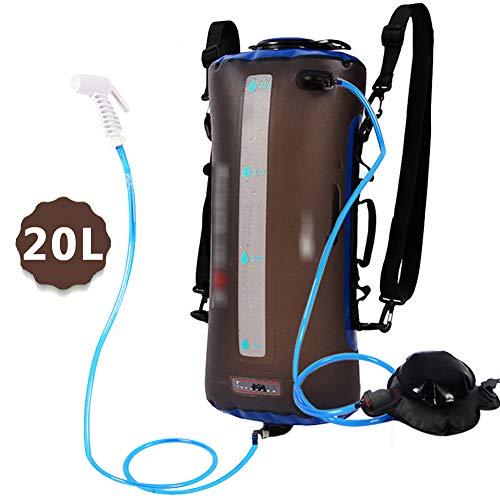 KHXJYC Tragbare Solar-WäRmflasche - 5 Liter / 20 Liter Duschtasche - TPU Outdoor-Heizung Faltbare Leichte Outdoor-Kletterduschtasche,20l