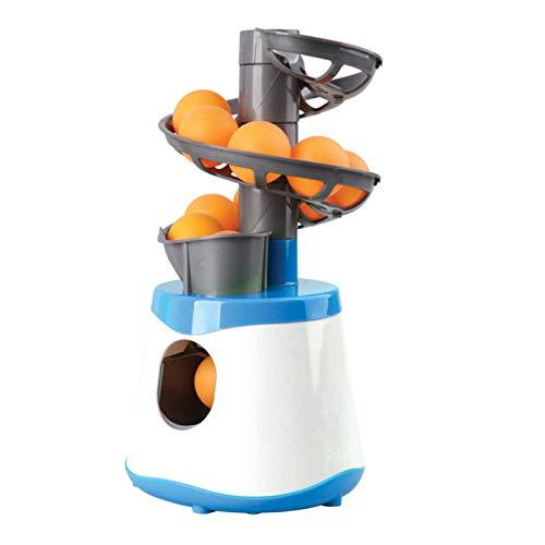 ASDQWER Remitente lanzando Mesa automática de Lazo 10 Ping Pong Bolas Robot Raqueta Deportes Mesa Tenis Entrenamiento, Tenis de Mesa Robot de Entrenamiento,Azul