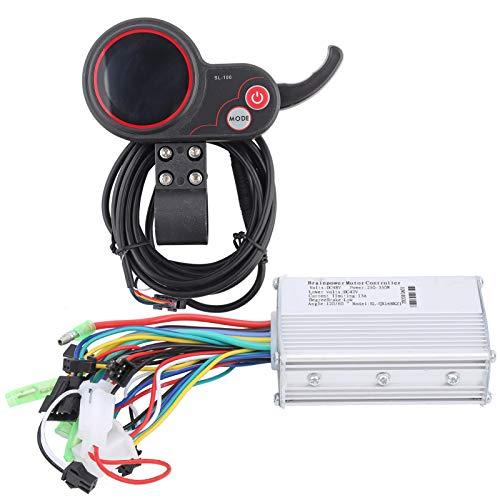 CHICIRIS Panel de Control de Pantalla LCD, admite 3 Niveles de Controlador de retroiluminación, para Bicicletas eléctricas, Scooters eléctricos(48V 250/350W Color Screen Dual-Mode Model)