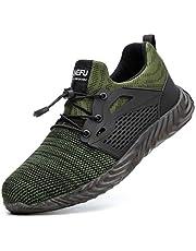 [Zcoli] 安全靴 メンズ 作業靴 スニーカー ワークシューズ 超通気 鋼先芯(JIS H級相当) 軽量 耐滑ソール セーフティーシューズ