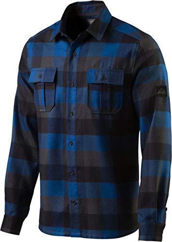 McKINLEY Herren Freizeithemd Outdoor Flanell Langarm Hemd Serra blau kariert, Größe:XXL