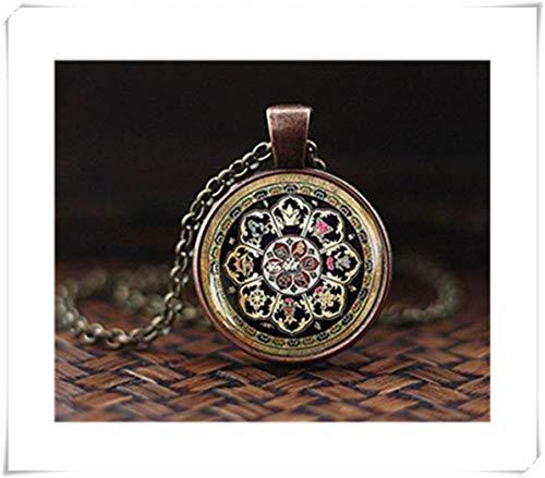 Collar tibetano budista mandala, joyería de geometría sagrada, collar tibetano, regalo espiritual, collar de hombre, colgante de mandala negro para hombre, un hermoso regalo.
