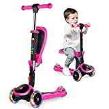 OUTON 2-in-1 Kinderscooter Dreiradscooter mit Abnehmbarer Sitz