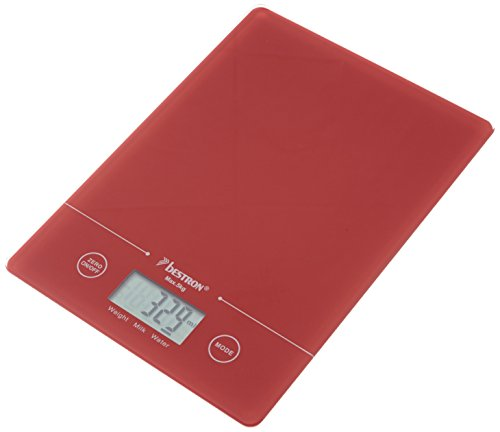Bestron AKS700R Digitale Küchenwaage rot
