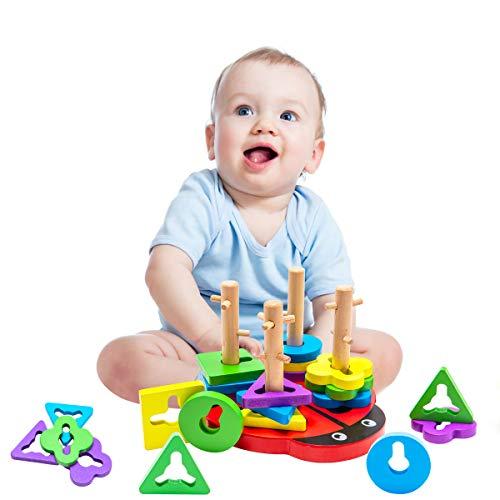 let's make 知育玩具 モンテッソーリ パズル 型はめ はめこみ 形合わせ カラフル ビートル 脳活性化 幾何認知 認知症予防 幼児 ブロックおもちゃ 出産祝い 誕生日プレゼント…