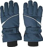 Playshoes Kinder Finger-handschuh Unisex Fingerhandschuhe mit Klettverschluss, Blau (Marine 11), 4 EU