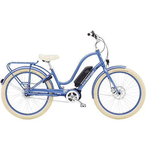 Electra Townie Go - Bicicleta para mujer 8i E-Bike, 8 marchas, 26', Sapphire Metallic - azul, L, 568497