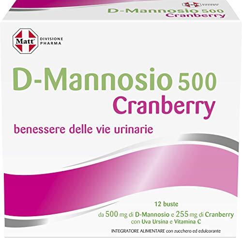 Matt Divisione Pharma - Integratore Alimentare per il Benessere delle Vie Urinarie con D-Mannosio e Cranberry - 12 Bustine da Sciogliere