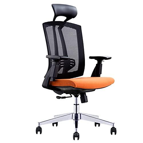 Silla de Oficina Silla ergonómica, Silla de Jefe Ejecutivo, Silla de computadora de Estudio en el hogar, Silla de Juego Simple (Color : Black, tamaño : Nylon Feet)