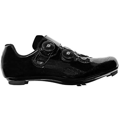 YQSHOES Zapatillas Ciclismo Carretera para Hombre Zapatillas Bicicleta Compatibles con Calas SPD y Delta,Negro,41EU/8UK/8.5US