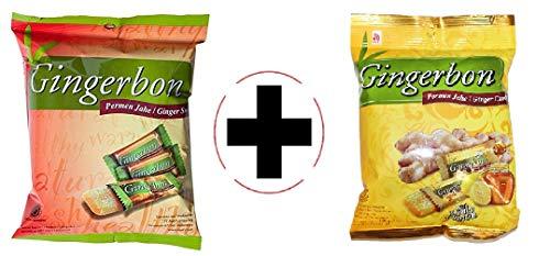 Probierangebot Agel Original Gingerbonbon + Honig u. Zitonen Geschmack, 2er Pack ( 2x125g )