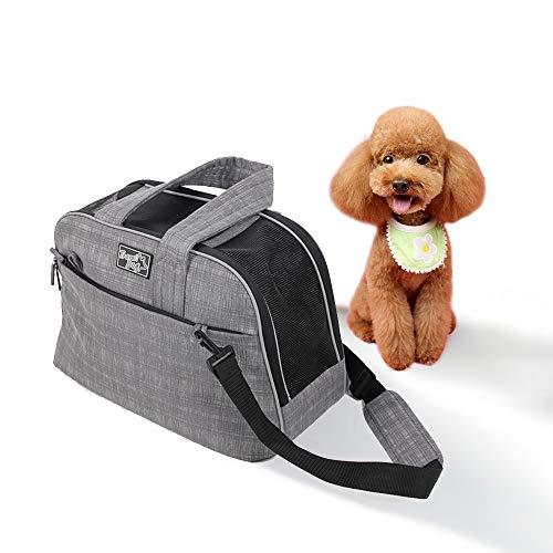 All for Paws - Trasportino portatile per cani e gatti, da viaggio, per cuccioli, gattini e piccoli animali domestici, approvato dalla compagnia aerea