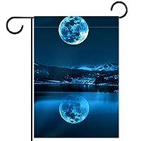 庭の装飾の屋外の印の庭の旗の飾りLake Mountains Moon テラスの鉢植えのデッキのため