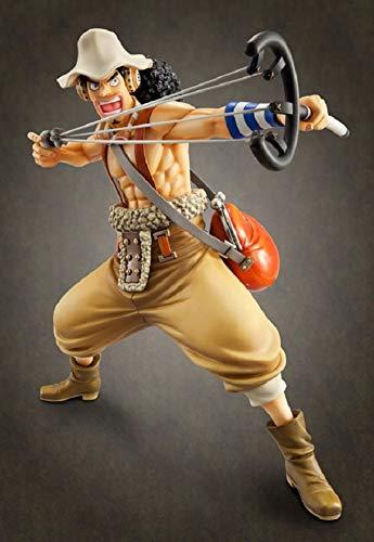 Kioiien 14cm Anime Figure One Piece Figure Usopp Figura Anime Estatua Estatua Figura de acción PVC Caracteres Estatua Estatuilla Anime Juego Modelo Colección Juguetes Adornos de Regalo