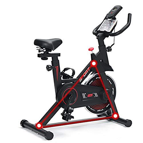 HEWXWX Bicicleta Estática silenciosa para Uso en casa o en el Gimnasio, con Soporte para el teléfono, 140-190 cm. Disponible con una Velocidad de escaneo de calorías de 120 kg. máximo.