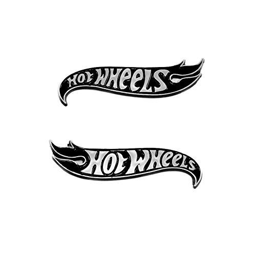 2x OEM Genuine Chevy Camaro Hot Wheels Edition Deck Emblems Badge Black Chrome -  Xuebols, 68218155AA