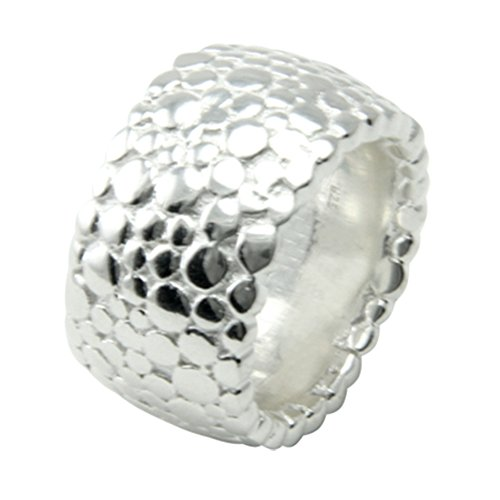 Skielka Designschmuck massiver Ring Kobra hochwertige Goldschmiedearbeit aus Deutschland (Sterling Silber 925) Schlichter Schwerer Silber Ring - Damenring - Herrenring