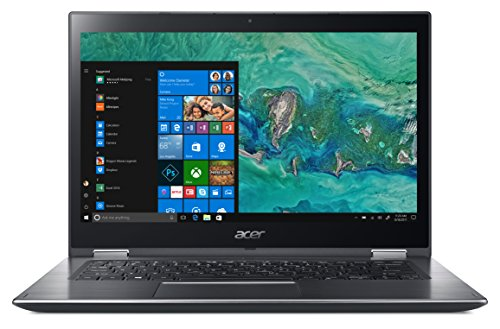 "Acer Spin 3 SP314-51-55TR Notebook con Processore Intel Core i5-8250U, RAM da 4 GB, 16 GB Intel Optane Memory, 1000 GB HDD, Display Multi-touch 14"" FHD IPS LED LCD, Windows 10 Home, Grigio"