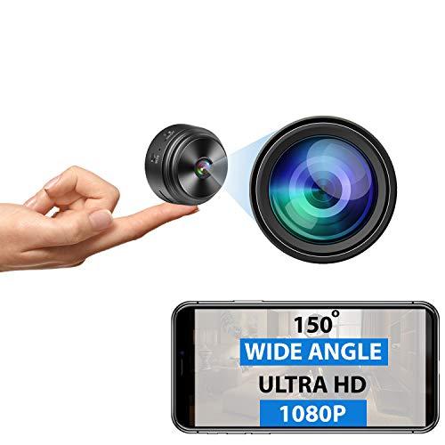 Mini Spy Camera - Wireless Hidden Camera - Ultra HD - Portable Small 1080P WiFi Nanny Cam with Night...