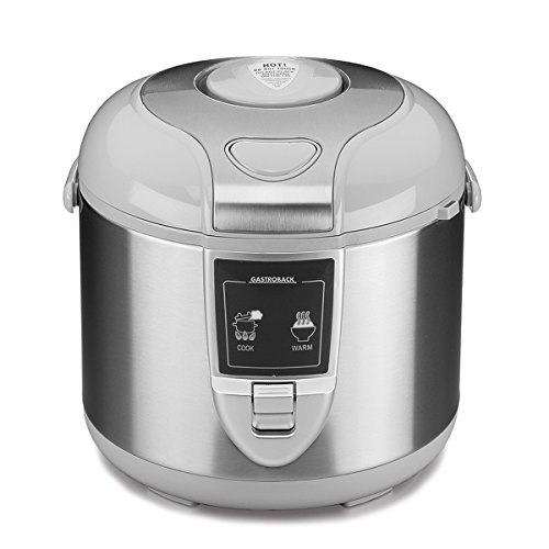 Gastroback 42518 Design Reiskocher Pro, Abschaltautomatik, Warmhalte-Funktion, 5 Liter, antihaftbeschichtet, 700 Watt, Rostfreier Stahl, 5 liters