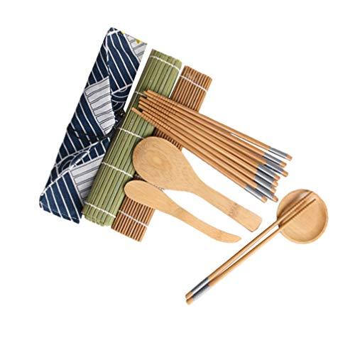 BESTonZON Kit di Strumenti per Fare Sushi Tappetino per Sushi in bambù per Fare Sushi Kit per Principianti