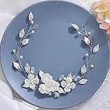 Vakkery Diadema de novia de flores para el pelo de novia, accesorios para el cabello de novia para mujeres y niñas