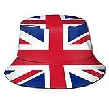 UK British Flag Unisex Packable Bucket Hat Summer Fisherman Hat Travel Beach Sun Cap for Men Women