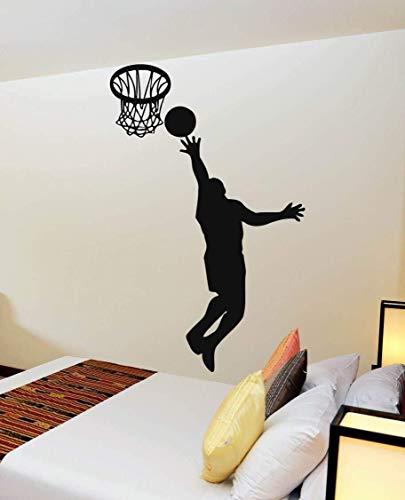 WXQIANG 3D Wandaufkleber Aufkleber Basketball-Spieler-Sport Tapete Poster Vinyl Sofa Hintergrund Dekorative Sammlung Hintergrund Dekor-Kind-Raum (Size : 58x91cm)