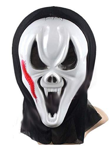 Inception Pro Infinite Maschera per Costume - Travestimento - Carnevale - Halloween - Scream - Mostro - Assassino - Colore Bianco - Adulti - Unisex - Donna - Uomo - Ragazzi