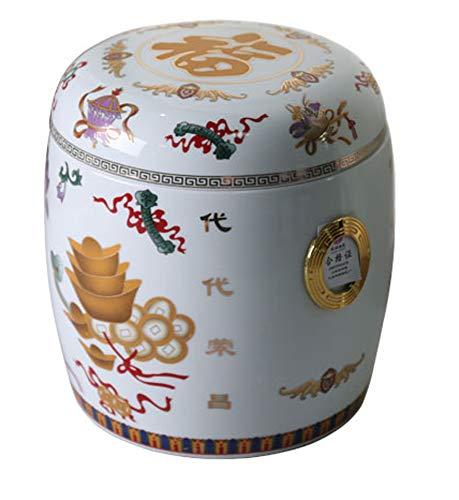 Keramik Sarg Beerdigung liefert wasserdichte und feuchtigkeitsbeständige Box Shou Box Runde Urne kann