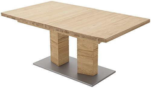 Robas Lund Esszimmertisch Massivholz Tisch ausziehbar Wildeiche, Cuneo BxHxT 140-220 x 77 x 90 cm