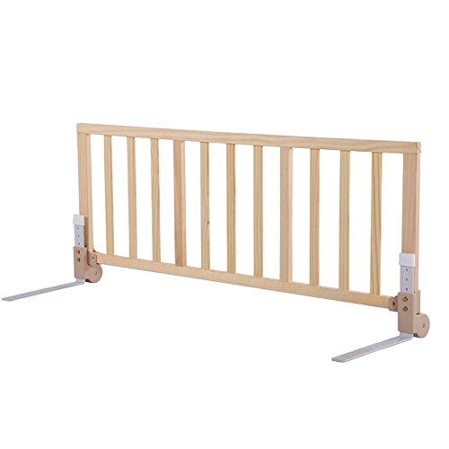Barrière de sécurité Garde-Corps en Bois Massif lit d'enfant en Bois Massif bébé (Taille : 1.2m)