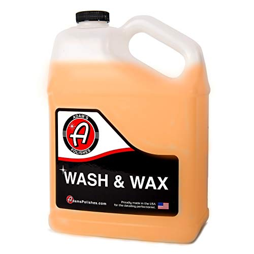 Adam's Wash and Wax (Gallon) - Car Wash Soap Infused with Pure Carnauba Car Wax | Car Cleaning Formula W/Paint Protection | Use in 5 Gallon Bucket Foam Cannon & Foam Gun