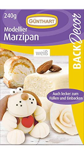 BackDecor Modellier Marzipan | 240g | weiß | zum backen | gestalten | formen | ausstechen