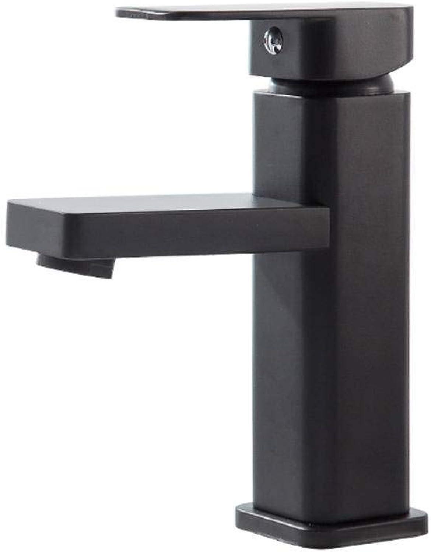 JINLIU Black Bathroom Taps Matte Spout Single Handle Commercial Bathroom Sink Taps Basin Mixer Tap,ORB Oil Rubbed Bronze short