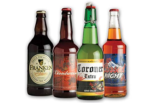 Halloween Glow in the Dark Beer Labels, 4 Designs