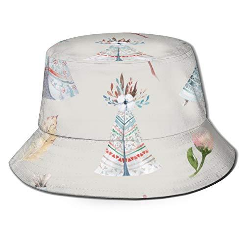 N/B Vissersmuts aquarel behang met bloesem bloemen opvouwbare omkeerbare unisex volwassen mode emmer pet zomer visser hoed outdoor pet, veel patronen