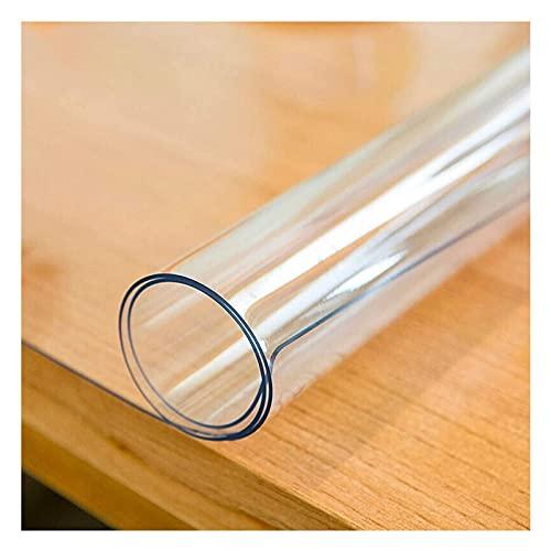 TMGJ 2mm Impermeable Sin Sabor No encogible Mantel,PVC Transparente Impermeable de plástico manteles de Mesa, Almohadillas de Escritorio,tamaño Personalizado(Size: 80x140cm/31x51in)