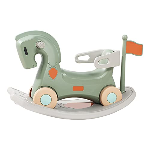 WLLP Rocking horse Suitable for children aged 2-3 horse riding gift Multi-purpose trolley