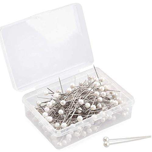 Push Pins, Map pins 200 PCS 1.5 in Pearlized Ball Head Pins Straight Pins Sewing Pins for DIY Sewing Crafts