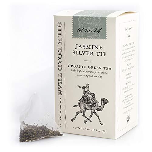 Translated Silk New arrival Road Organic Fair Trade Jasmine Green bags Tea 15