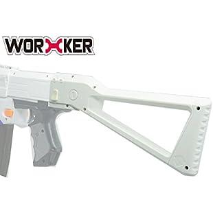 worker Modification Shoulder Stock kits for Nerf N-Strike Elite Retaliator (White)