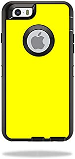 MightySkins Skin Compatible with OtterBox Defender iPhone 6/6S - Solid Yellow | Protective, Durable, and Unique Vinyl Decal wrap Cover | Easy to Apply, Remove, and Change Styles | Made in The USA