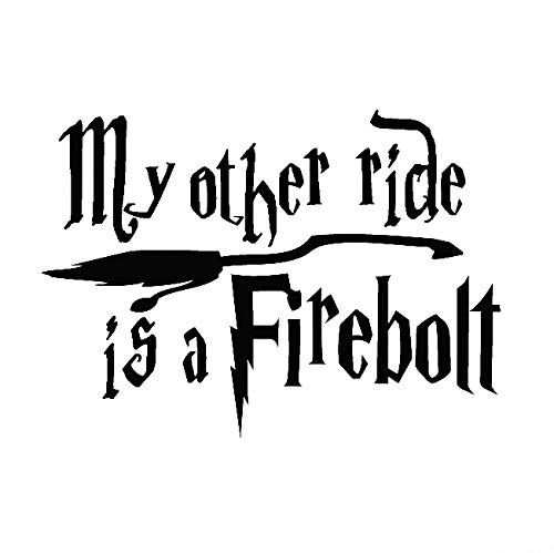 PJ4U Black My Other Ride Is A Firebolt 12 x 17 cm aproximado adhesivo para parachoques de coche